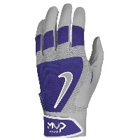 ナイキ メンズ 野球 グローブ【Nike MVP Edge Batting Gloves】Pewter Grey/Court Purple