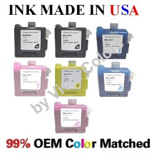BCI-1411 New compatible ink cartridges for Canon W7200/8200/8400- A セット of 7-BK(x2),C,M,Y,PC,PM ...