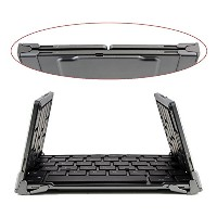 ブルートゥース Foldable Keyboard グレー Portable ミニ Wireless Keyboard Folding ブルートゥース Keyboard with Stand ケース...