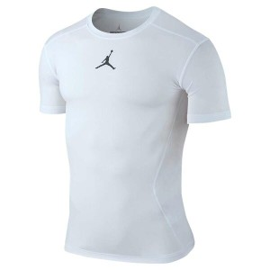ナイキ ジョーダン メンズ トップス Tシャツ【Jordan All Season Compression Short Sleeve Top】White/Cool Grey
