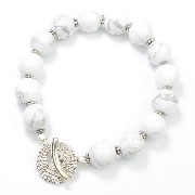 SMBATI BEADS BRACELET サンバティ ビーズ ブレスレット THB-3045 (col.HOWLITE×SILVER)
