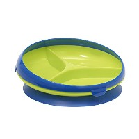 The First Years Inside Scoop Suction Sectioned Plate, Blue/Green by The First Years