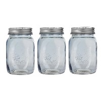 Darice Mason Jar with Lid and黒板ラベル