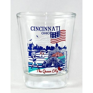 Cincinnati Ohio Great American Cities Collection Shot Glass by World By Shotglass