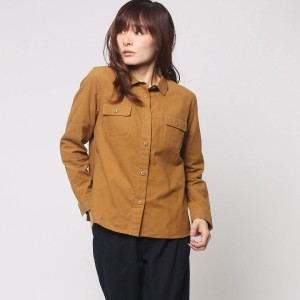 【SALE 60%OFF】ヒューマンウーマン  HUMAN WOMAN outlet 綿100%長袖シャツ (イエロー)