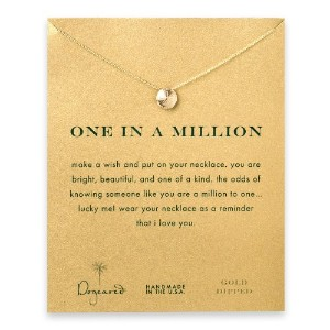 """Dogeared One in a Million Sand Dollar 16"""" Gold Dipped Necklace"""