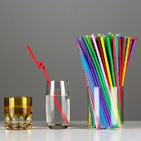 Alytimes 500パックExtra Long使い捨て折り曲げ可能プラスチック飲料ストロー, Assortedカラー Alytimes060-Assorted color