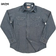 SUGAR CANE/シュガーケーン Made in U.S.A. CHAMBRAY L/S WORK SHIRT (長袖シャンブレーワークシャツ) 421 A/NAVY(ONE WASH)...