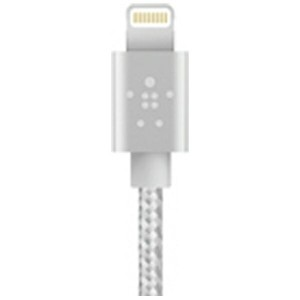BELKIN iPad / iPad mini / iPhone / iPod対応 Lightning ⇔ USBケーブル 充電・転送 (0.15m・グレイ) MFi認証 F8J144bt06INGR...