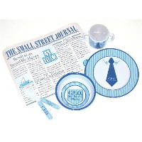 Mud Pie Baby CEO Feeding Set with Placemat by Mud Pie