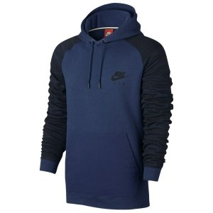 ナイキ メンズ パーカー&スウェット アウター Men's Nike Max Air Hybrid Pullover Hoodie Costal Blue/Costal Blue/Black