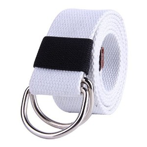 ◆Direct from USA◆ JINIU Canvas Belt Military Style D RING Buckle solid color 1.5 wide-JINIU-Belts-C