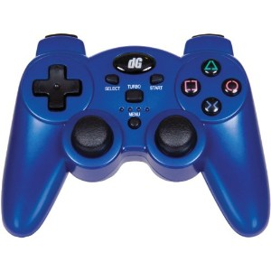 PS3 Wireless Radium Controller - Rumble Only - Metallic Blue