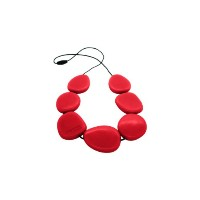 Jellystone Necklace - Silicone (Teething/Nursing) (Scarlet Red) by Jellystone Designs