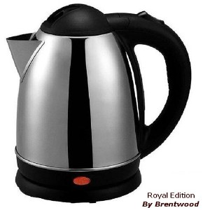 TEA KETTLE - 1.2 Liter Stainless Steel Electric - Smart Cordless Hot Water by Brentwood by Unique...
