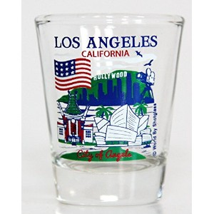 Los Angeles California Great American Cities Collection Shot Glass by World By Shotglass