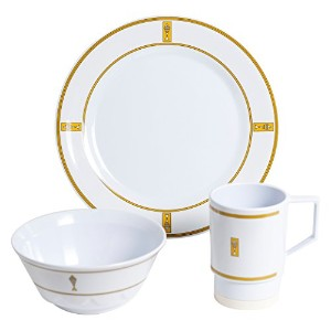 Galleyware 1077-s 12 Decoratedメラミン滑り止め12 Piece Dinnerwareギフトセット