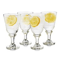 Libbey 4Piece Monclova Gobletガラスセット、1サイズ、クリア