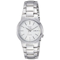 [セイコー]Seiko Watches 腕時計 Seiko Seiko 5 Automatic White Dial Stainless Steel Watch SNKA01K1 メンズ ...