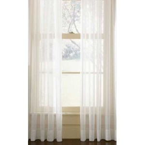Sheer White Window Drapery Panel 54 in x 84 in - 1 panel per package by Other Brands