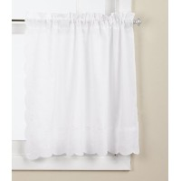 Lorraine Home Fashions Candlewick Tier Curtain, 60 by 36-Inch, White by Lorraine Home Fashions
