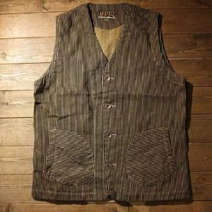 "AT-DIRTY""WORKERS VEST""BROWN HICKORY【AT-DIRTY】(アットダーティー)正規取扱店(Official Dealer)Cannon Ball(キャノンボール)..."