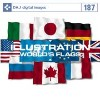 【特価】DAJ 187 ILLUSTRATION / WORLD'S FLAGS