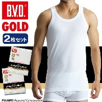 B.V.D.GOLD 2枚セット ランニング(6L)【BVD直営】/ギフト/メンズ 【コンビニ受取対応商品】