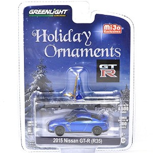 """GREENLIGHT 1:64SCALE LIMITED EDITION!! """"HOLIDAY ORNAMENTS - 2015 NISSAN GT-R (R35)""""(BLUE) グリーンライト 1..."""