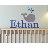 Baby Whale with Personalized Name by Zapoart