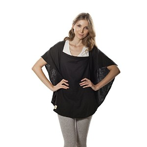 Poncho Baby Nursing Cover, Oval Black by Poncho Baby
