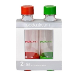SodaStream 0.5L Carbonating BottleRed/Green Fruity(twinpack) Brand: SodaStream by SodaStream