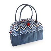 2 Red Hens Coop Carry-All Diaper Bag, Blue Chevron by 2 Red Hens