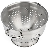 Raishi Stainless Steel Colander for Easy Cleaning - 5 Quart High Grade Guaranteed. Best Metal...