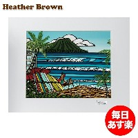 Heather Brown ヘザーブラウン Open Edition Matted Art Prints アートプリント Waikiki Holiday ワイキキホリデー HB9296P ハワイ...