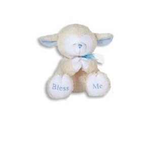PRAYING LAMBS-8 INCH/BLUE/Plays Now I Lay Me Down to Sleep/Baby Shower/New Baby by Kelli's Gifts