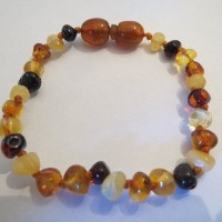 Baltic Amber Baby Bracelet by Momma Goose (Multi) by Momma Goose