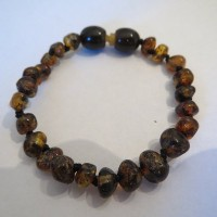 Baltic Amber Baby Bracelet by Momma Goose (Green) by Momma Goose