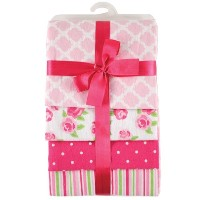 Hudson Baby Flannel Receiving Blankets, Pink by Hudson Baby