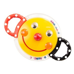 Sassy Rattle with Mirror, Smiley Face by Sassy