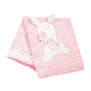 """Bunnies By The Bay My Blankie Blanket, Pink, 28"""" x 34"""" by Bunnies By The Bay"""