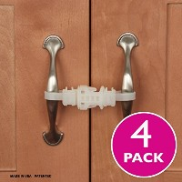 Kiscords Baby Safety Cabinet Locks For Handles Child Safety Cabinet Latches For Home Safety Strap...