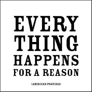 Everything Happens For A Reasonブラックandホワイトマグネット
