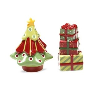 Certified InternationalクリスマスPresentsツリー& Presents Salt & Pepper Shaker Set