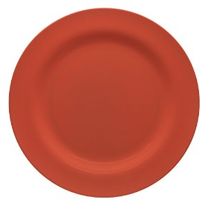Zak Designs Ella Dinner Plates ,セットof 6 レッド