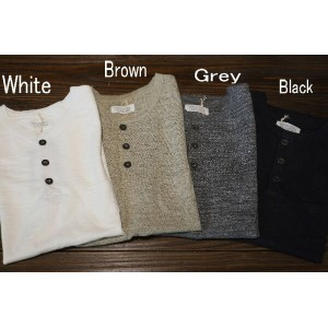 ORGUEIL(オルゲイユ)【OR-9013】【HENLY T-SHIRT】ヘンリーネック無地TシャツCOTTON100%/ MADE IN JAPANネコポス(300)発送可能