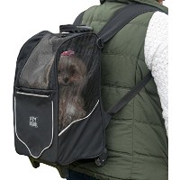 【Pet Gear I-GO2 Sport Roller Backpack for cats and dogs up to 10-pounds Black by Pet Gear】...