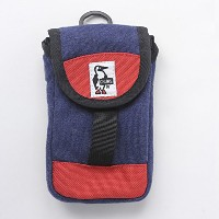 CHUMS チャムス Mobile Patched Case Sweat Nylon CH60-2364 (H-Navy/Tomato)