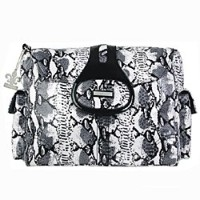 Kalencom Diaper Bag, Elite Python Black and White by Kalencom