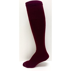Midweight solid-color tube-sock、大人サイズ21色 L レッド